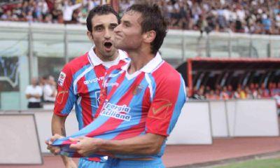 Bergessio dopo l'1-0 alla Juve (ANSA)