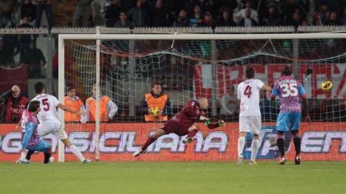 Bergessio in rete (Foto Eurosport)