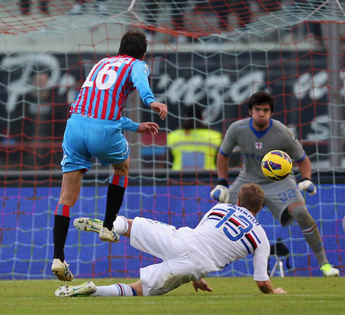 Mario Paglialunga firma il momentaneo pareggio (Foto: M.Lagana)
