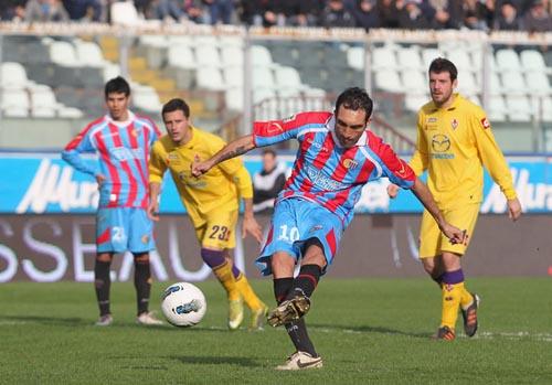 Lodi mette a segno il rigore nel match dello scorso 11 marzo (Foto M.Lagana)