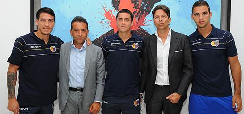 I tre neoacquisti del Catania (Foto: ilcalciocatania.it)